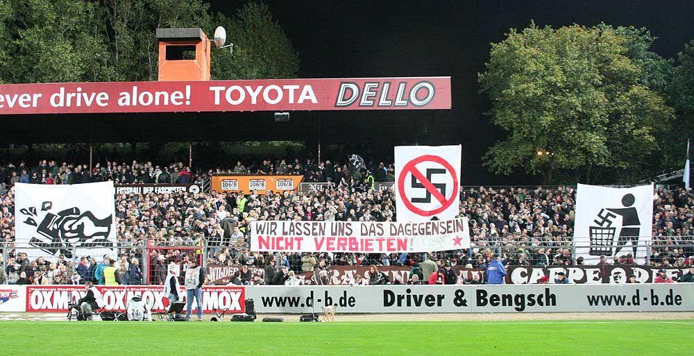 El FC. St Pauli disfruta de cierta fama por el carácter antifascista de sus  hinchas fd75da65083c5