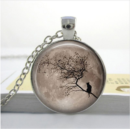Beautiful and Unique Glass Pendant Kitty Necklaces (Price is for 2 necklaces any style)