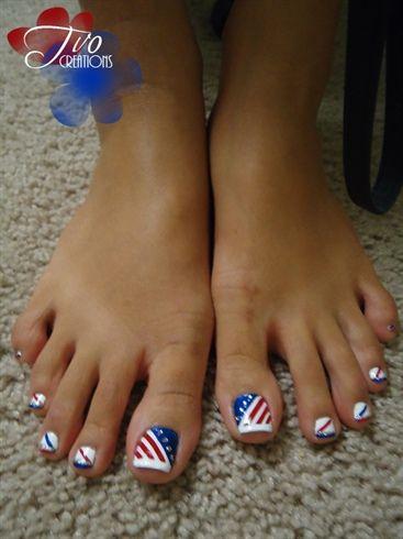 Top All American Patriotic Nail Art Designs A Sparkly Life For Me Toe Nails Toe Nail Designs Toe Nail Art