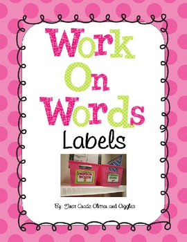 These pink and green polka dot labels, by Marisa Curtis at First Grade Glitter and Giggles, are the perfect addition to your Work On Words area or ...