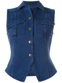 denim waistcoat $208 #Farfetch #want #ShoppingSale