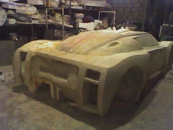 Incredible A Lebanese Man Spends 4 Years Carving His Dream Car Out Of Foam It Looks Amazing