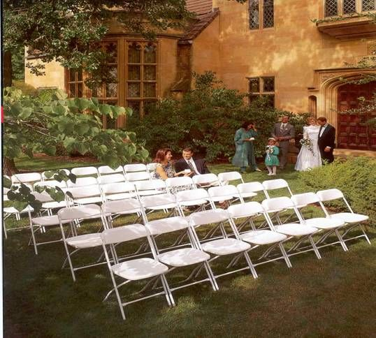 White Folding Chairs For Ceremony