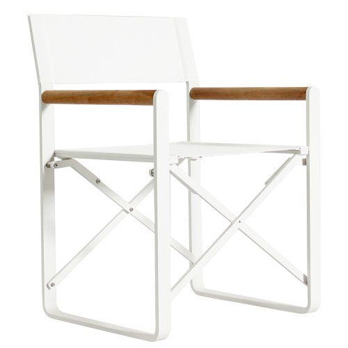 Lca White Director S Dining Chair Outdoor Modern Outdoor Dining Chairs Outdoor Dining Chairs Und Furniture