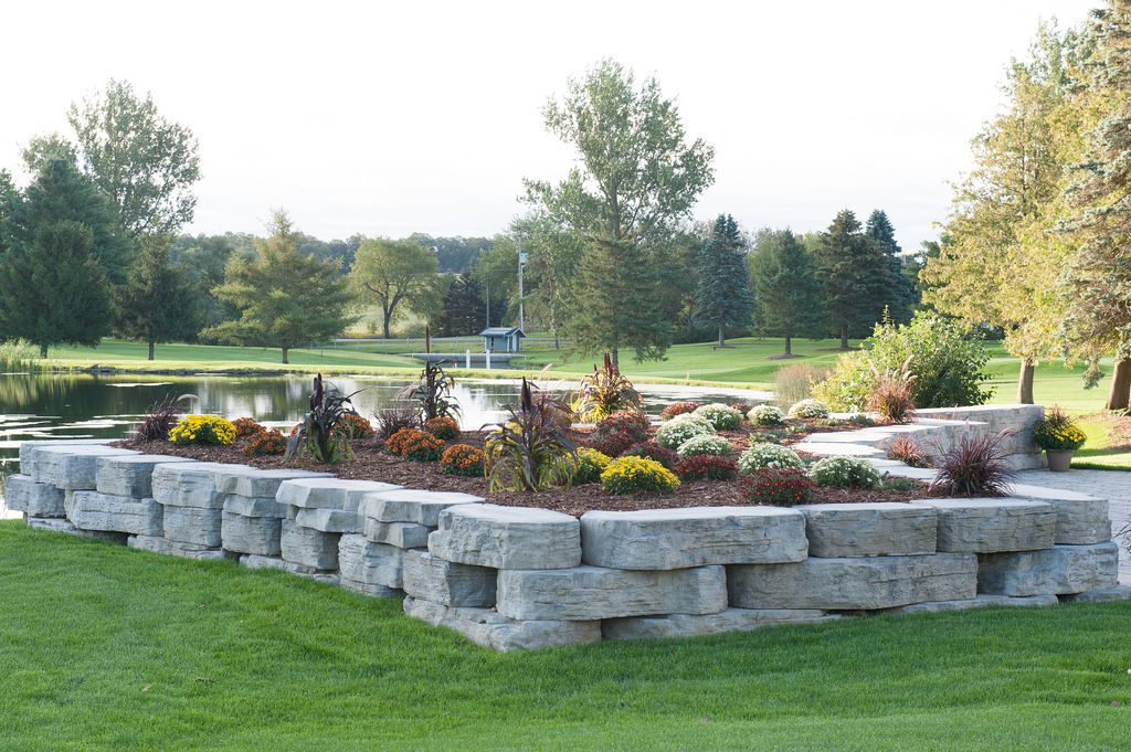 Outcropping Garden Wall Landscape Design Hardscape Landscape