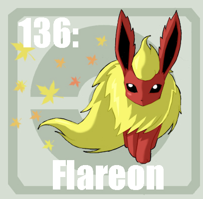 136 flareon by Pokedex on DeviantArt
