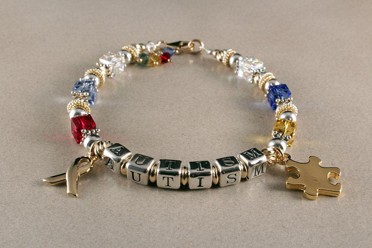Autism Bracelet Autism Jewelry Personalized Bracelet Sterling Silver