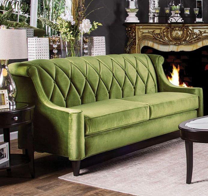 Popular Furniture America Limerick Sofa SM2281 green sofa green furniture green decor living Photo - Model Of Green Chesterfield sofa Fresh