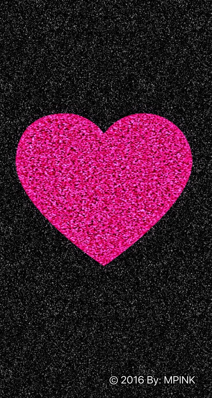 2016 Cute Sparkle Pink Heart Wallpaper