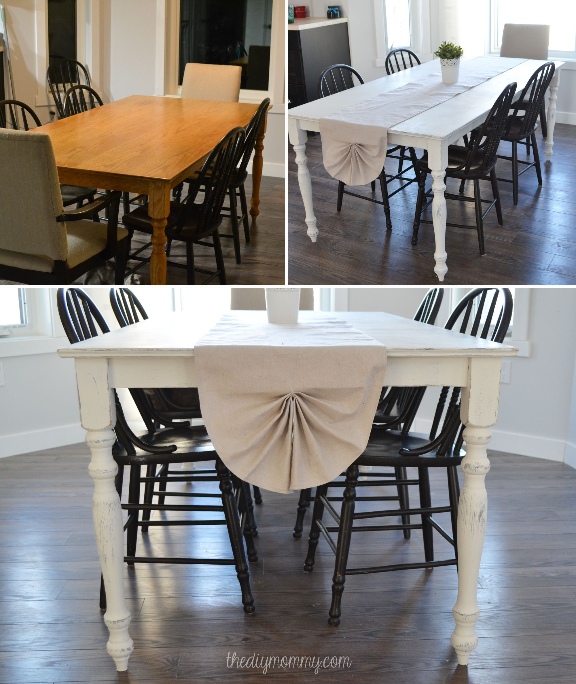 Exceptionnel A Shabby Chic Farmhouse Table With DIY Chalk Paint