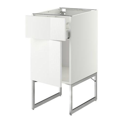 METOD / MAXIMERA Mobile base con cassetto/anta IKEA Il cassetto si ...