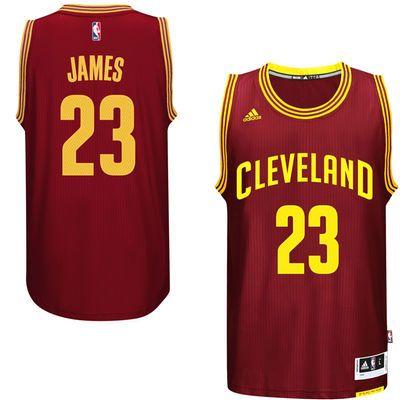 big sale 87928 1c1df Men's Cleveland Cavaliers LeBron James adidas Burgundy ...