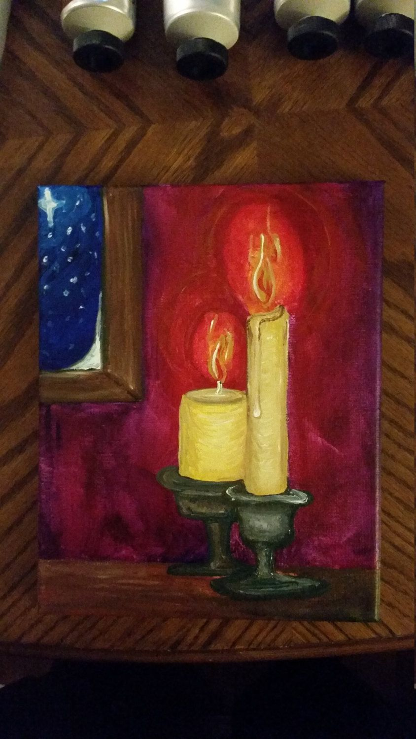 Original One Of A Kind Canvas Painting Demensions Are X Perfect For Christmas Decor