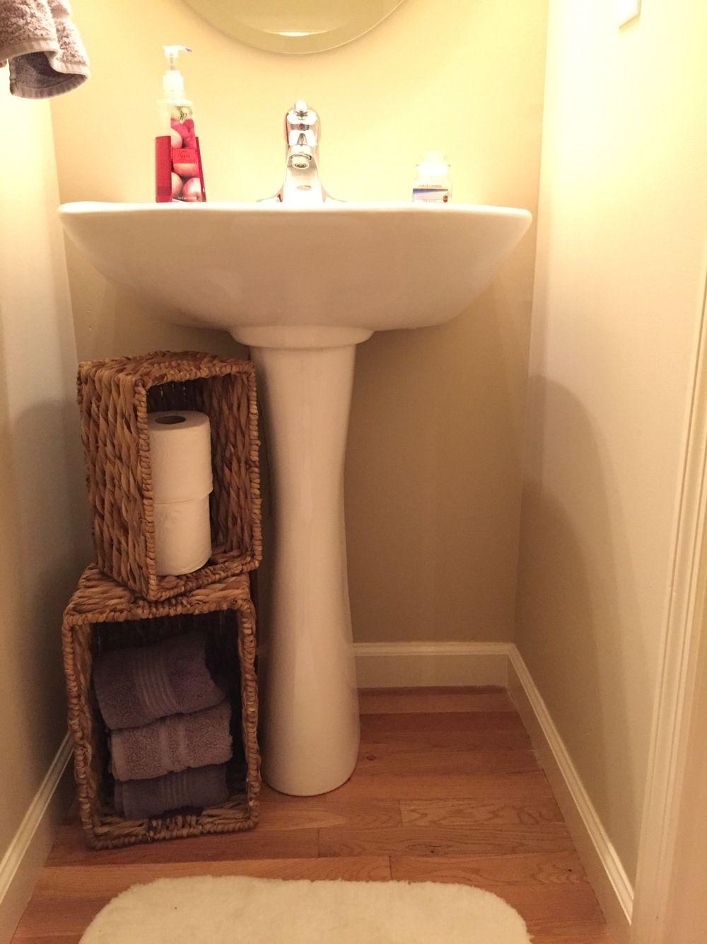 Simple Way To Cover Up Sink Pipes Space Saving Bathroom Diy Bathroom Storage Diy Bathroom
