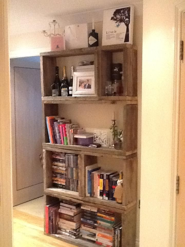 Our Bookcase Made From Old Scaffolding Planks Acquired