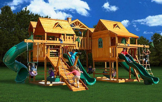 Awesome Backyards Playsets Design Ideas Backyard