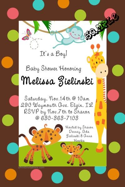Zoo Fisher Price Baby Shower Invitations Mels Baby Shower