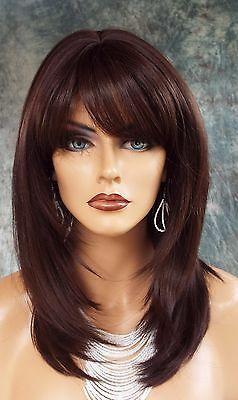Large Cap Long Wig Heat Safe Skin Top Color 4 Straight Classy Style 1068 18879893029 Ebay In 2020 Medium Hair Styles Long Hair Styles Haircuts For Long Hair