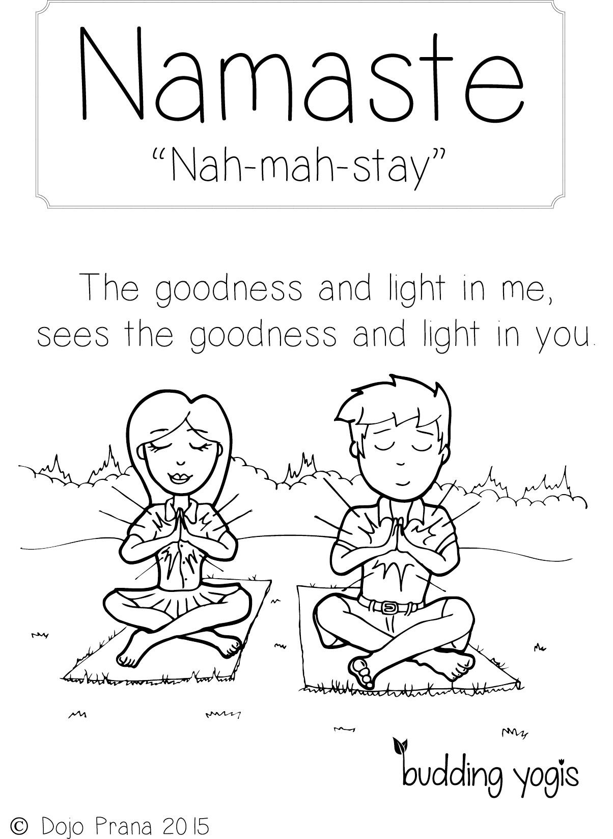 Kids Yoga Pose Coloring Pages Sketch