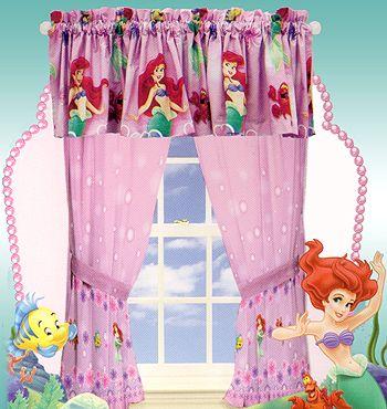 Curtains Ariel Mermaid Little Mermaid Curtains Set