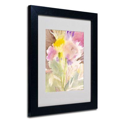 "Trademark Art ""Garden Memory"" by Sheila Golden Framed Painting Print Size: 14"" H x 11"" W x 0.5"" D, Frame: Black"