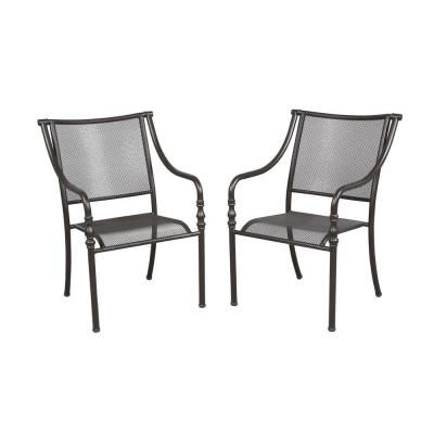 Hampton Bay Andrews Stack Patio Chair 2 Pack Fcs60437a 2pk The Home Depot Patio Chairs Outdoor Chairs Chair