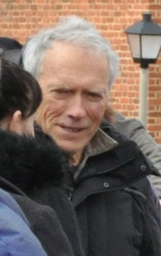 Clint Eastwood in Warrenton, VA.  He was Historic Warrenton directing a scene at the old courthouse for the movie Hoover. The filmmakers put an inch of snow on the gound outside of the courthouse for the scene that they shot.