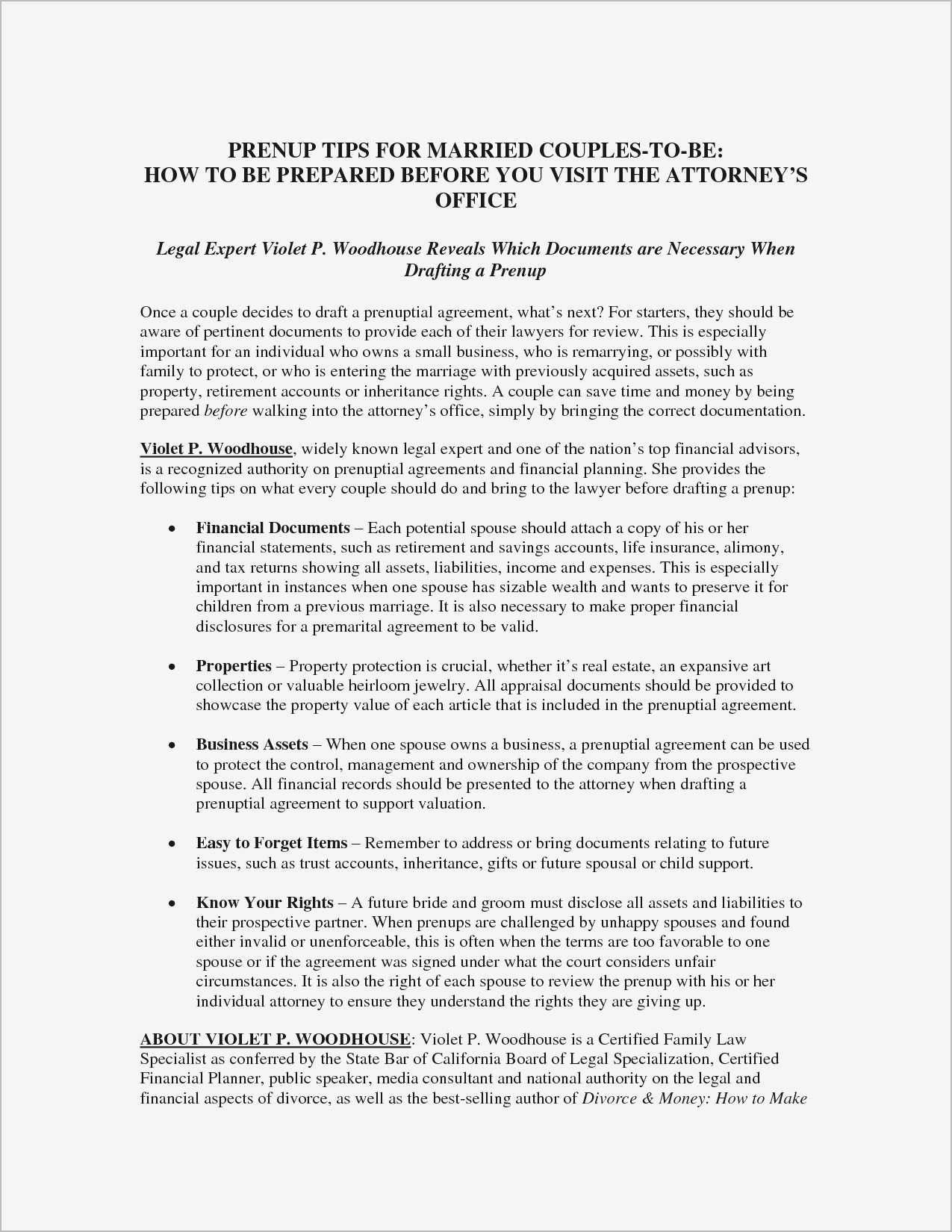 Prenuptial Agreement Sample Pdf in 2020 Prenuptial