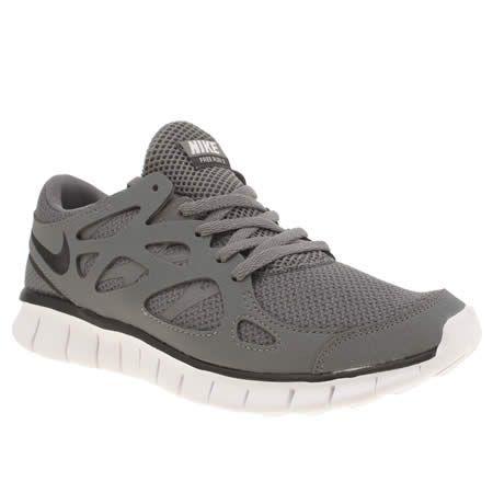 nike free run v2 trainers in grey