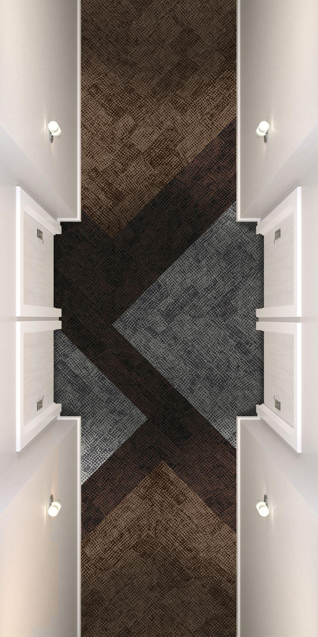 Corridor Hallway Door Drop Carpet Tiles Design Patterned
