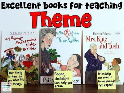 When teaching students how to identify themes in literature, be sure to use Patricia Polacco's books! This blog post contains many tips for teaching theme.