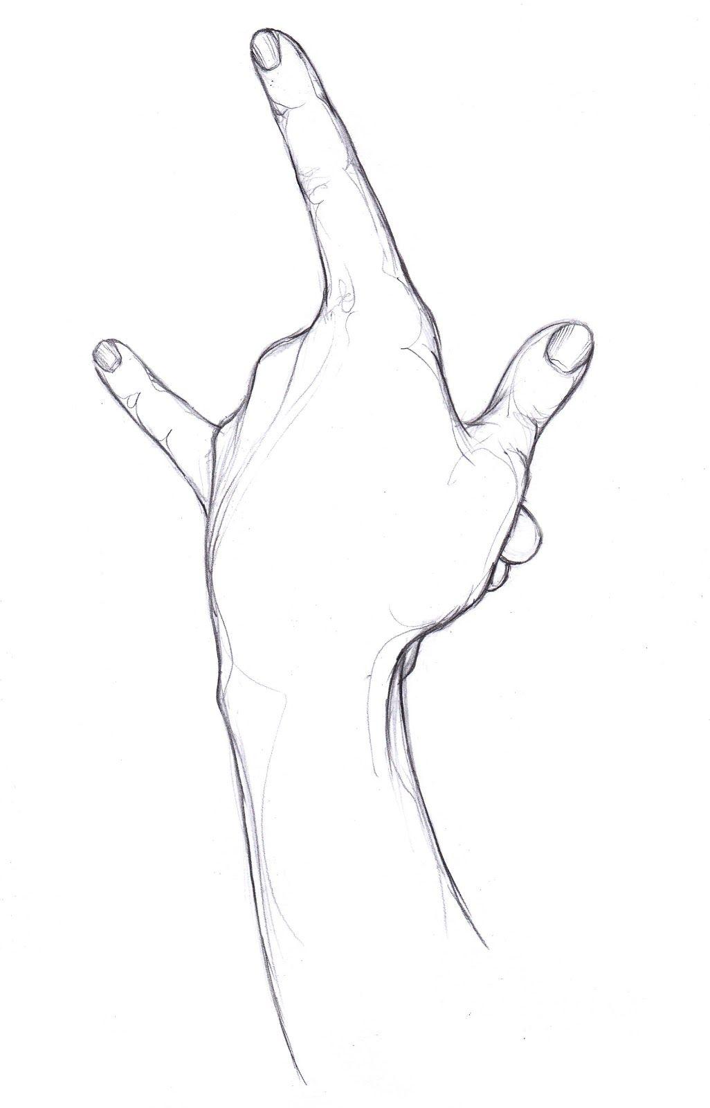 Simple Hand Drawings In Pencil