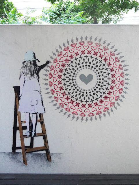 """Little Vandal Mandala"" New Mural In Hiroshima via StreetArtNews   street heart art"