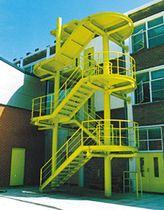 Best Steel Canopy For Exterior Staircase Victoria Road Fire 400 x 300