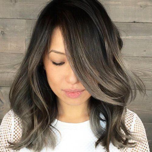 Charcoal Brown Hair Color Brown Hair Balayage Hair Highlights Hair