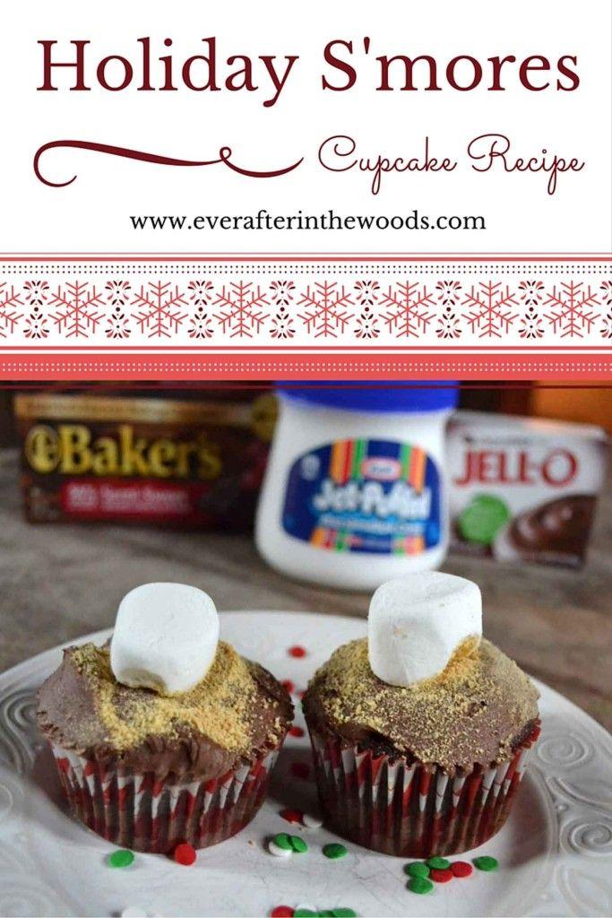 Holiday S'mores Cupcake Recipe #SweetenTheSeason #ad
