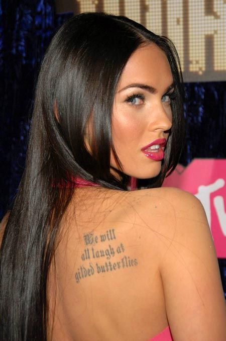 Women Fashion Trend Megan Fox Celebrity Tattoos Designs Megan Fox Tattoo Megan Fox Photos Megan Fox Pictures