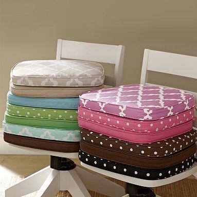 swivel armchair cushion, snow white | desks, dorm and playrooms