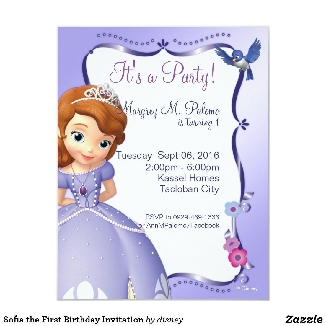 Sofia the first birthday invitation projects to try pinterest sofia the first birthday invitation filmwisefo