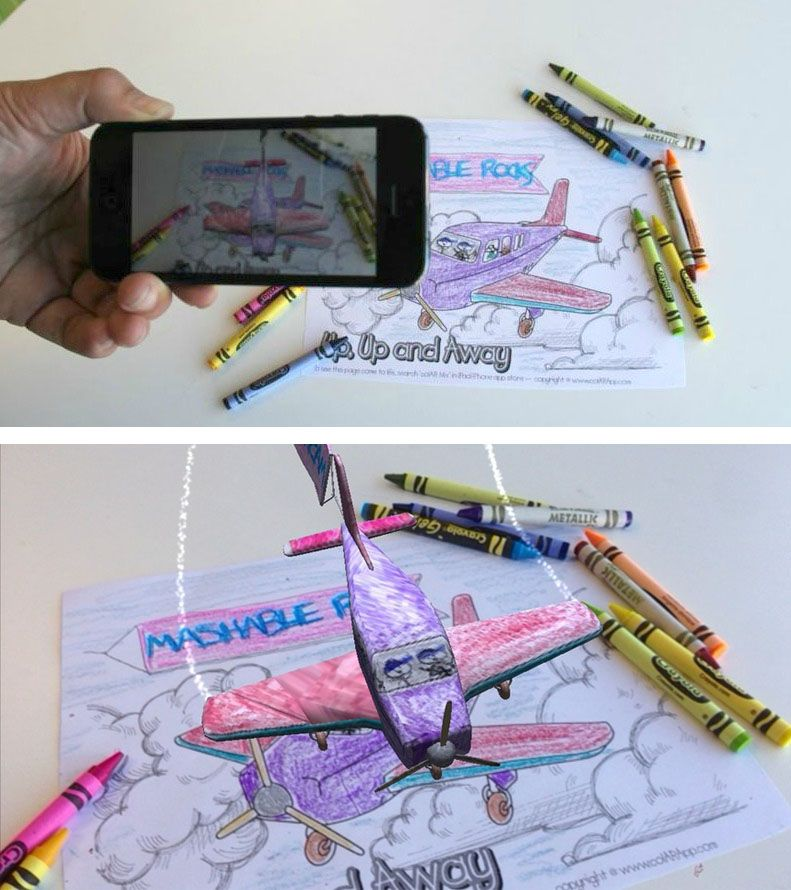 This App Can Make Coloring Books Come To Life Review Augmented Reality Virtual Reality Technology Augmented Virtual Reality