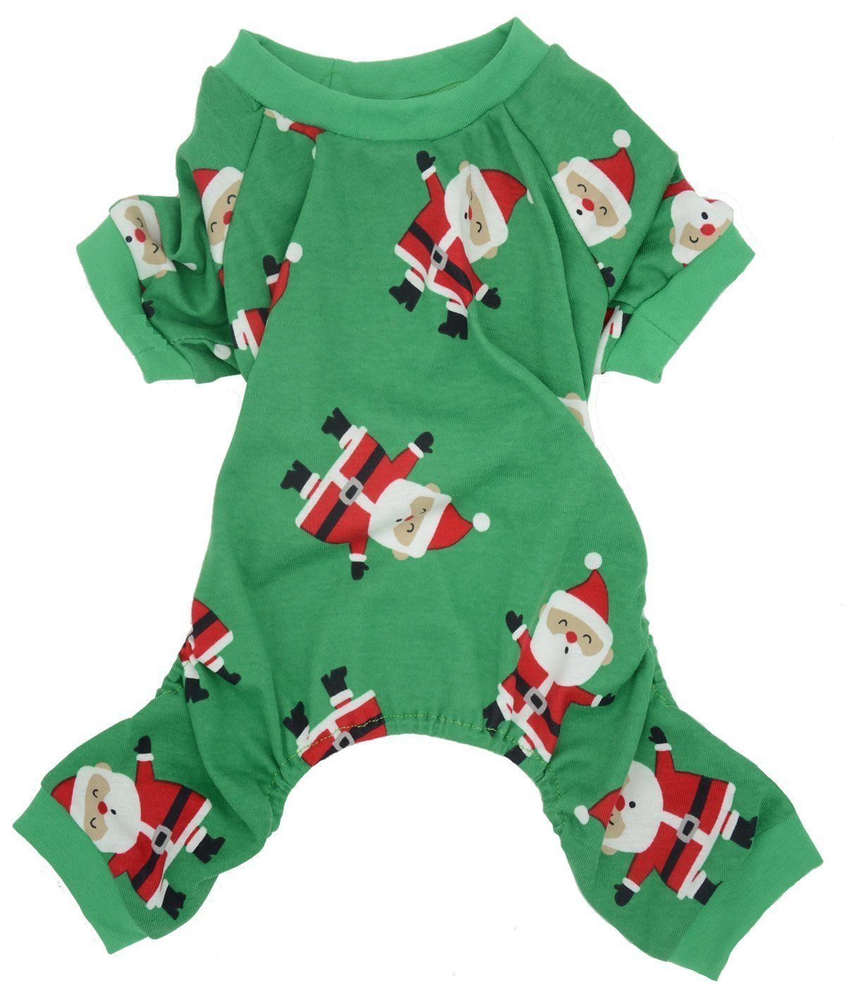 Christmas Holiday Pet Dogs Pajamas Clothes 100% Cotton Green Santa Claus    Discover this special cat product f2b4deb0b