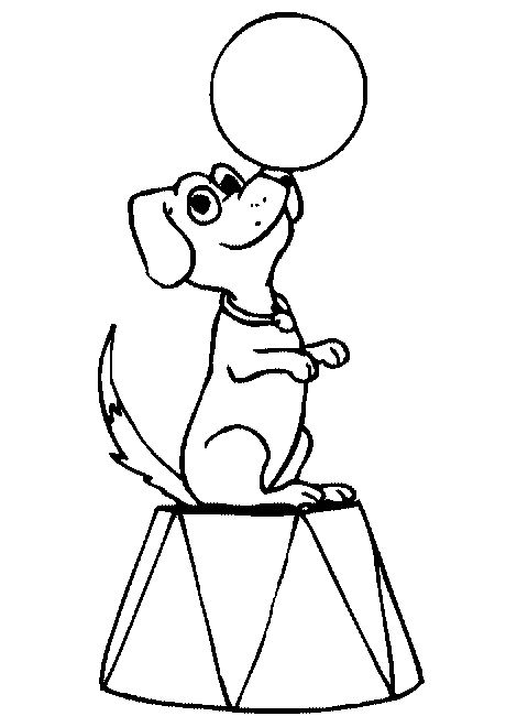 dog circus coloring page - Open House Coloring Pages