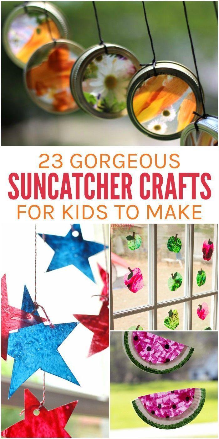 Gorgeous Suncatcher Crafts Kids Will Love Making #superherocrafts