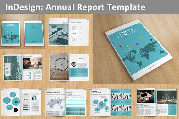 Free Report Cover Page Template Indesign Annual Report Template  16 Pages  V01  Pinterest Mini .