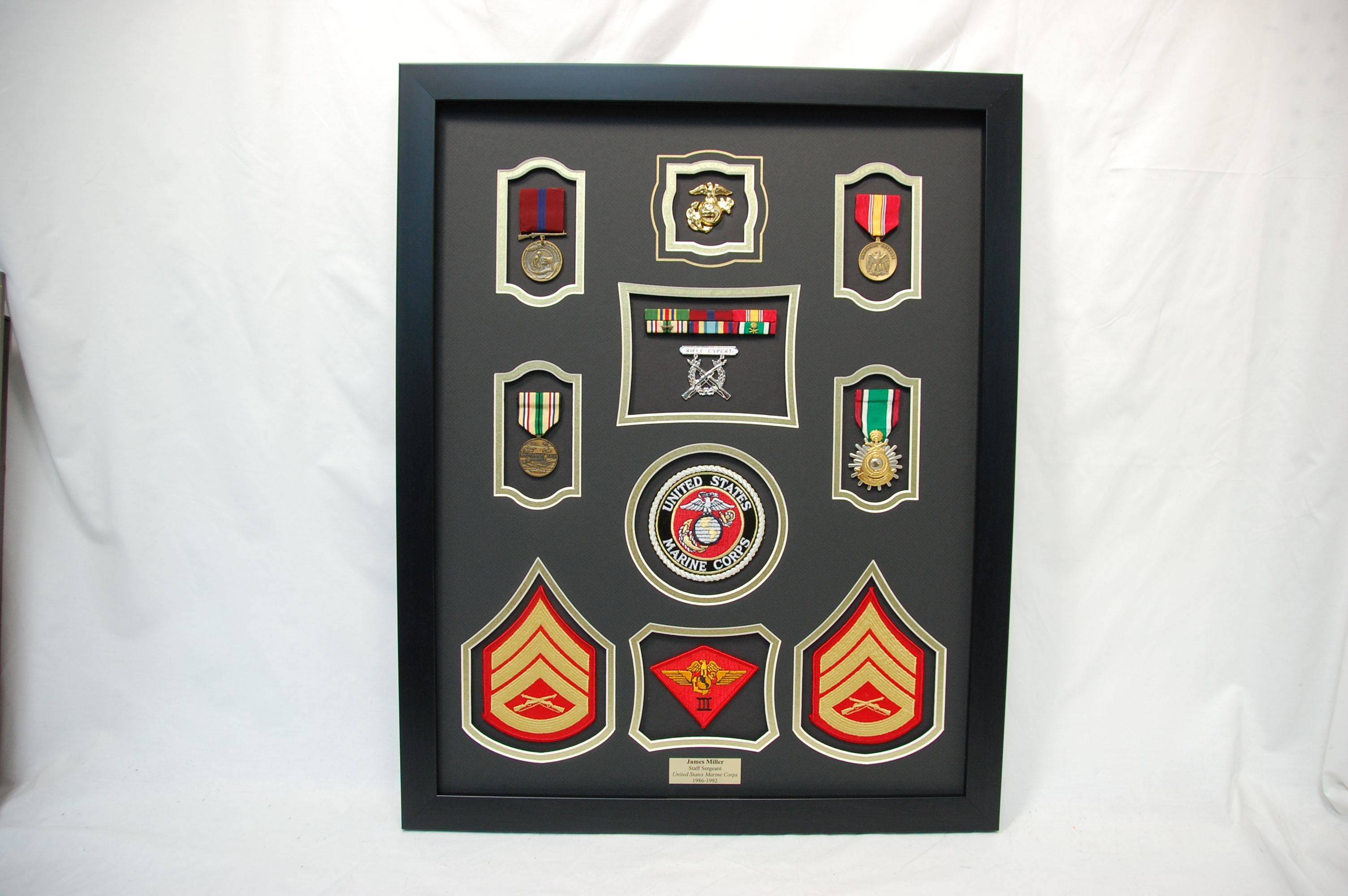 US Marine Corps Second Air Wing Shadow box frame | Marine Military ...