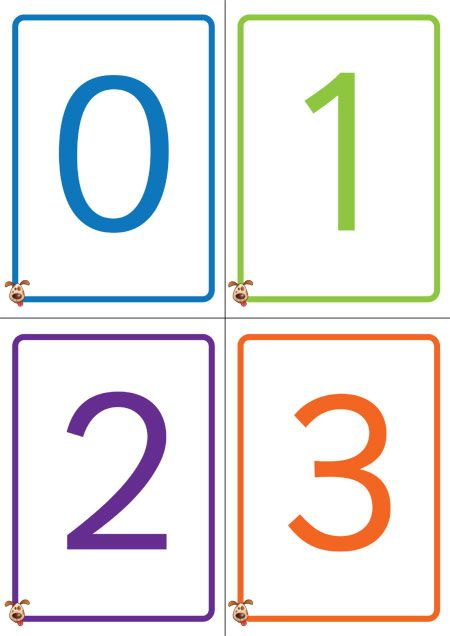 graphic about Printable Numbers 1-50 identified as Academics Doggy - Colorful Amount Playing cards 0-50 - No cost Clroom