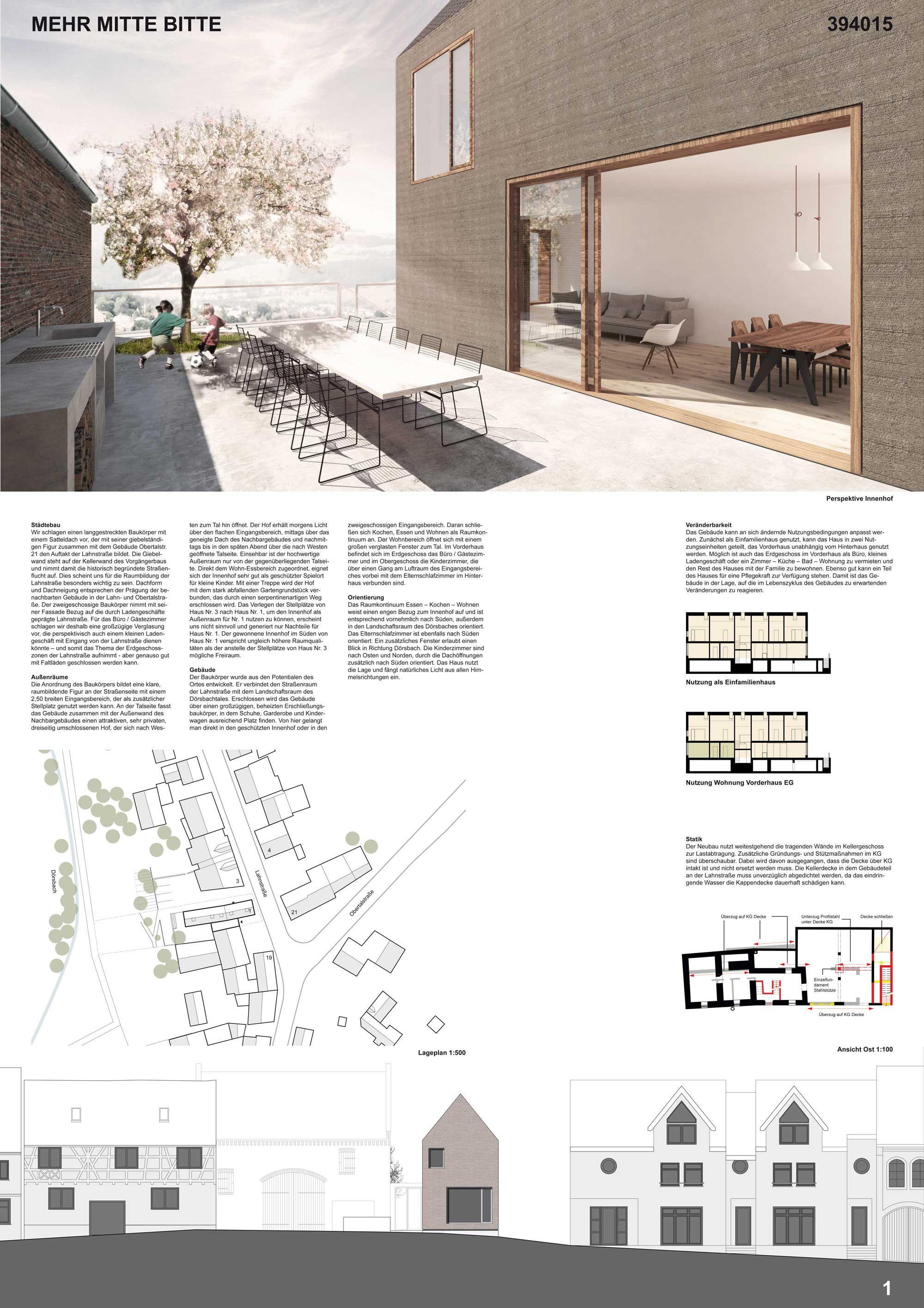 1 preis heinrich lessing arch representation for Entwurf architektur