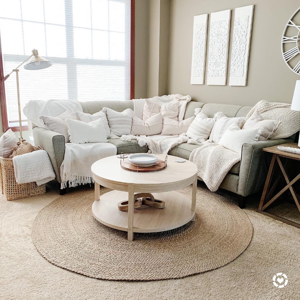 Porto Round Wood Coffee Table Bleached Wood Project 62 Round Wood Coffee Table Coffee Table Wood Coffee Table [ 1000 x 1000 Pixel ]
