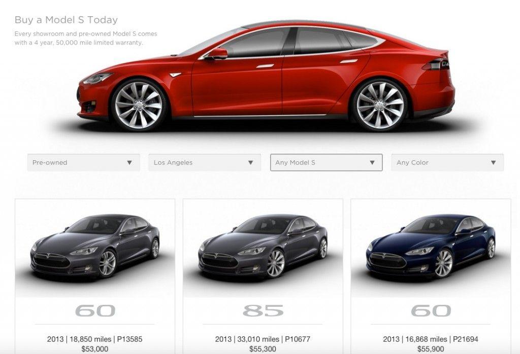 Tesla Model S CPO Prices Coming Down Certified PreOwned Prices - 2013 tesla model s range