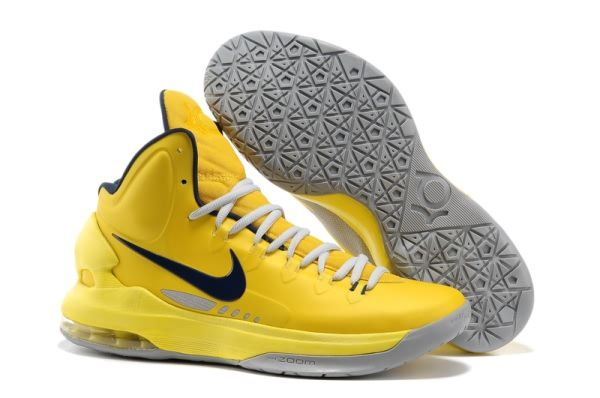 Nike Zoom Kevin Durant's KD V Basketball shoes Yellow/Black Ju